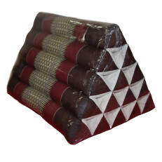Triangle Pillow Dark Brown