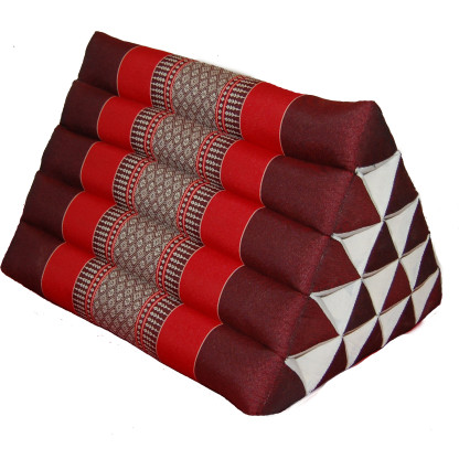 Triangle Pillow Dark Red