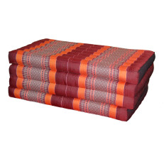 Mattress Four Fold DARK RED ORA