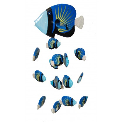 Fish Mobile Blue Yellow Accent