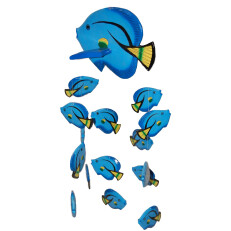 Fish Mobile Blue Yellow Tail