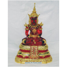 Red Resin Buddha